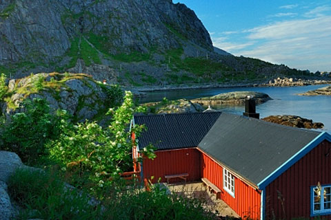 Summer lodge, Moskenesoya Island, Lofoten, Norway